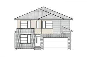 Durham - A3 Modern Urban Elevation - 2,294 sqft, 4 Bedroom, 2.5 Bathroom - Cardel Homes Ottawa
