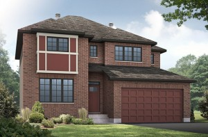 Oxford - A2 Traditional Elevation - 2,529 sqft, 3 Bedroom, 2.5 Bathroom - Cardel Homes Ottawa