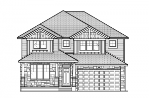 Oxford - A1 Canadiana Elevation - 2,529 sqft, 3 Bedroom, 2.5 Bathroom - Cardel Homes Ottawa