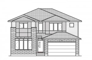Oxford - A3 Modern Urban Elevation - 2,552 sqft, 3 - 4 Bedroom, 2.5 Bathroom - Cardel Homes Ottawa