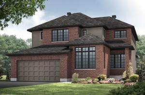 Cassidy - A2 Traditional Elevation - 2,640 sqft, 3 - 4 Bedroom, 2.5 Bathroom - Cardel Homes Ottawa