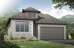 Cameron - A2 Traditional Elevation - 1,535 sqft, 2 Bedroom, 2 Bathroom - Cardel Homes Ottawa