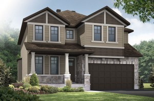 Durham - A1 Canadiana Elevation - 2,294 sqft, 4 Bedroom, 2.5 Bathroom - Cardel Homes Ottawa