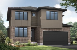 Lincoln - A3 Modern Urban Elevation - 1,944 sqft, 3 - 4 Bedroom, 2.5 Bathroom - Cardel Homes Ottawa