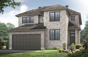Nichols - A2 Traditional Elevation - 2,456 sqft, 4 - 5 Bedroom, 2.5 - 3.5 Bathroom - Cardel Homes Ottawa