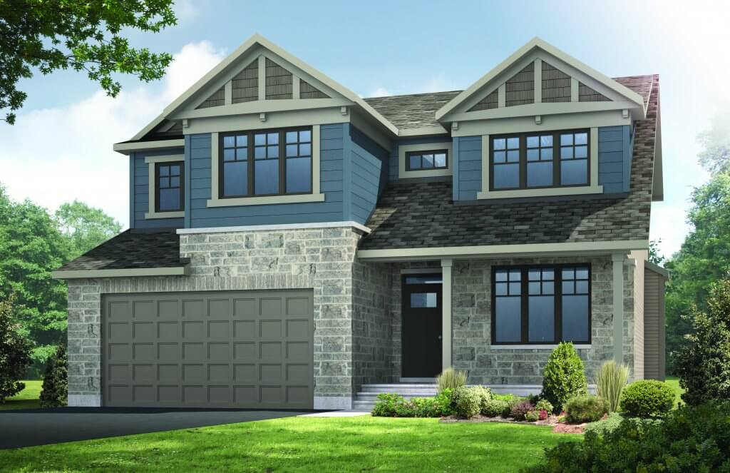 Barrington - A1 Canadiana Elevation - 2,531 sqft, 4 - 5 Bedroom, 2.5 Bathroom - Cardel Homes Ottawa