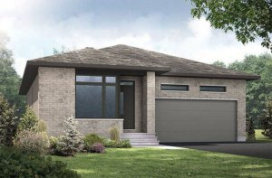 LANCASTER-PS - Urban Modern A3 Elevation - 1,678 sqft, 3 Bedroom, 2 Bathroom - Cardel Homes Ottawa