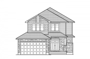 BRISCOE-PS - Canadiana A1 Elevation - 2,134 sqft, 3 - 4 Bedroom, 2.5 Bathroom - Cardel Homes Ottawa
