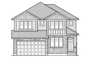 NICHOLS - MCR PS - A1 Canadiana Elevation - 2,456 sqft, 4 - 5 Bedroom, 2.5 - 3.5 Bathroom - Cardel Homes Ottawa
