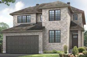NICHOLS - MCR PS - A2 Traditional Elevation - 2,456 sqft, 4 - 5 Bedroom, 2.5 - 3.5 Bathroom - Cardel Homes Ottawa