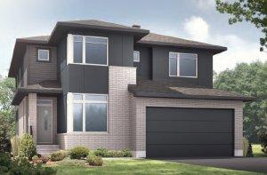 NICHOLS - MCR PS - A3 Urban Modern Elevation - 2,456 sqft, 4 - 5 Bedroom, 2.5 - 3.5 Bathroom - Cardel Homes Ottawa