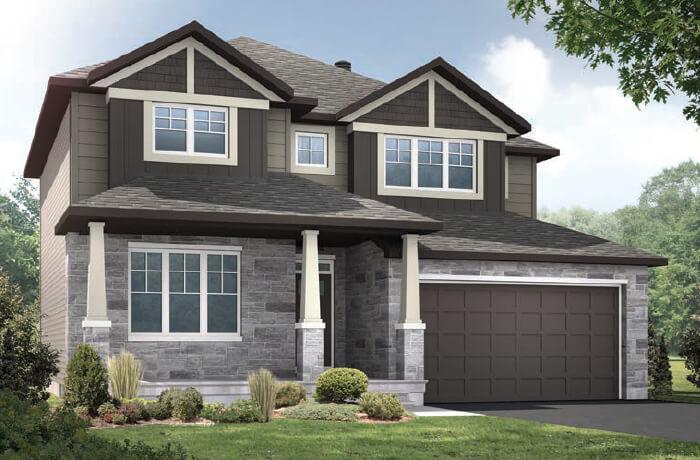 OXFORD - MCR PS - A1 Canadiana Elevation - 2,552 sqft, 3 - 4 Bedroom, 2.5 Bathroom - Cardel Homes Ottawa