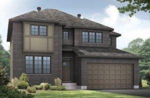 OXFORD - MCR PS - A2 Traditional Elevation - 2,552 sqft, 3 - 4 Bedroom, 2.5 Bathroom - Cardel Homes Ottawa