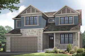BARRINGTON - MCR PS - A1 Canadiana Elevation - 2,531 sqft, 4 - 5 Bedroom, 2.5 Bathroom - Cardel Homes Ottawa
