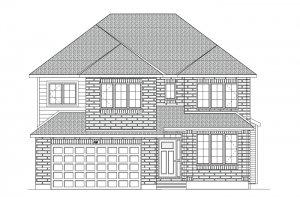 BARRINGTON - MCR PS - A2 Traditional Elevation - 2,531 sqft, 4 - 5 Bedroom, 2.5 Bathroom - Cardel Homes Ottawa