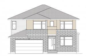 BARRINGTON - MCR PS - A3 Urban Modern Elevation - 2,531 sqft, 4 - 5 Bedroom, 2.5 Bathroom - Cardel Homes Ottawa