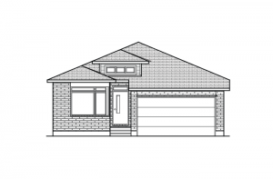 Cameron_A3_700x460 Elevation - 1,535 sqft, 2 Bedroom, 2 Bathroom - Cardel Homes Ottawa