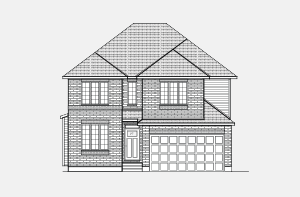 Durham_A2_300x197 Elevation - 2,294 sqft, 4 Bedroom, 2.5 Bathroom - Cardel Homes Ottawa