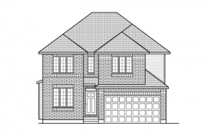 Durham_A2_700x460 Elevation - 2,294 sqft, 4 Bedroom, 2.5 Bathroom - Cardel Homes Ottawa