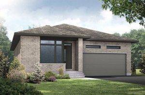 Lancaster-UDO Elevation - 1,678 sqft, 3 Bedroom, 2 Bathroom - Cardel Homes Ottawa