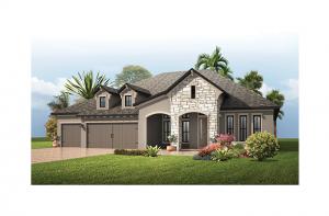St. Lucia BEXLEY - European Cottage Elevation - 3,336 sqft, 4 Bedroom, 3 Bathroom - Cardel Homes Tampa