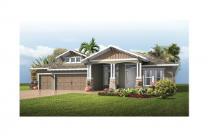 St. Lucia BEXLEY - Southern Craftsman Elevation - 3,336 sqft, 4 Bedroom, 3 Bathroom - Cardel Homes Tampa