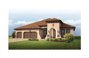 St. Lucia BEXLEY - Spanish Colonial Elevation - 3,336 sqft, 4 Bedroom, 3 Bathroom - Cardel Homes Tampa