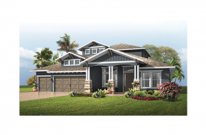 St. Lucia 2 - Southern Craftsman Elevation - 3,952 sqft, 5 Bedroom, 4 Bathroom - Cardel Homes Tampa