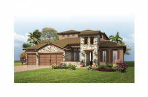 St. Lucia 2 - Tuscan Cottage Elevation - 3,952 sqft, 5 Bedroom, 4 Bathroom - Cardel Homes Tampa