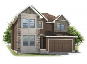 Harmon - Shingle S1 Elevation - 2,448 sqft, 3 Bedroom, 2.5 Bathroom - Cardel Homes Calgary