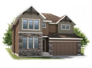 Harmon - Rustic S2 Elevation - 2,448 sqft, 3 Bedroom, 2.5 Bathroom - Cardel Homes Calgary