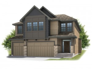 Patagon - Shingle S1 Elevation - 2,351 sqft, 3 Bedroom, 2.5 Bathroom - Cardel Homes Calgary