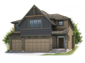 Patagon - Rustic S2 Elevation - 2,351 sqft, 3 Bedroom, 2.5 Bathroom - Cardel Homes Calgary