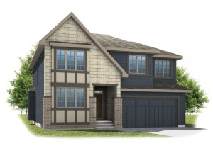 Tamarack - Shingle S1 Elevation - 2,296 sqft, 3 Bedroom, 2.5 Bathroom - Cardel Homes Calgary