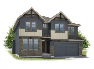 Tamarack - Rustic S2 Elevation - 2,296 sqft, 3 Bedroom, 2.5 Bathroom - Cardel Homes Calgary