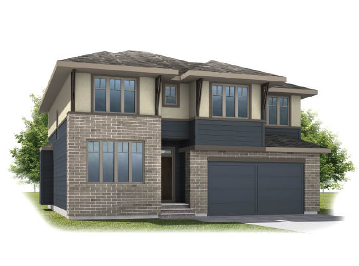 Tamarack - Prairie S3 Elevation - 2,296 sqft, 3 Bedroom, 2.5 Bathroom - Cardel Homes Calgary