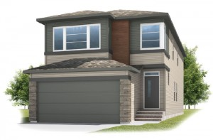 Sabal 2 - Urban Prairie A2 Elevation - 2,313 sqft, 4 Bedroom, 2.5 Bathroom - Cardel Homes Calgary