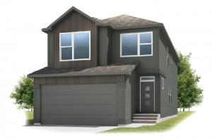 Sabal 2 - Urban Farmhouse A3 Elevation - 2,313 sqft, 4 Bedroom, 2.5 Bathroom - Cardel Homes Calgary