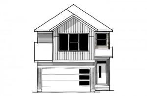 Sabal 2 - Urban Farmhouse A4 Elevation - 2,313 sqft, 4 Bedroom, 2.5 Bathroom - Cardel Homes Calgary