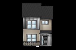 SAGE-ELEV-A-LRG Elevation - 1,573 sqft, 3 Bedroom, 2.5 Bathroom - Cardel Homes Denver