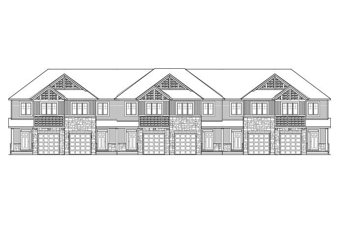 Meadow - Yarro 2 - Elevation A Elevation - 2,048 sqft, 3 Bedroom, 2.5 Bathroom - Cardel Homes Ottawa