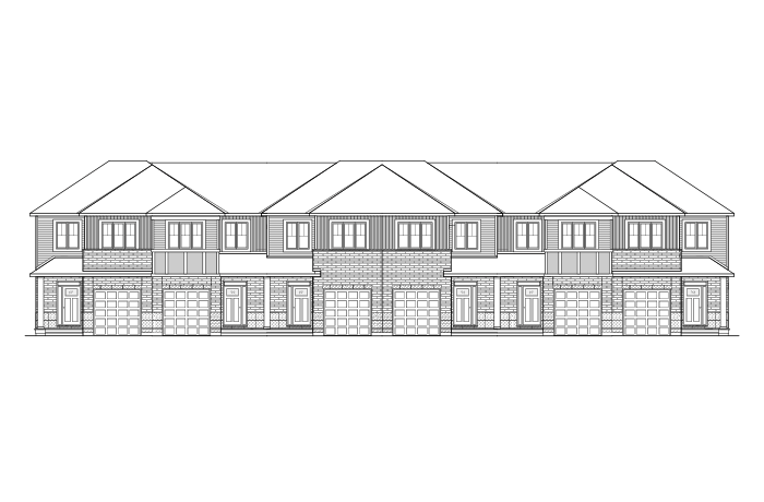 Forest - Yarro 1 - Elevation A Elevation - 2,093 sqft, 3 Bedroom, 2.5 Bathroom - Cardel Homes Ottawa
