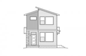 Colette - Elevation C - Modern Elevation - 1,341 sqft, 2 Bedroom, 2.5 Bathroom - Cardel Homes Denver