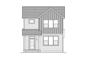 Teagan - Elevation A - Urban Farmhouse Elevation - 1,459 sqft, 2 Bedroom, 2.5 Bathroom - Cardel Homes Denver