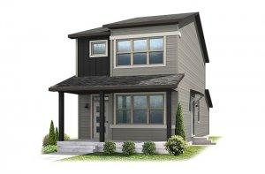 Colette - Elevation A - Urban Farmhouse Elevation - 1,341 sqft, 2 Bedroom, 2.5 Bathroom - Cardel Homes Denver