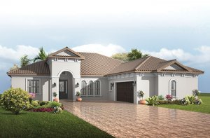 Toriana - Italian Villa Elevation - 2,514 - 2,874 sqft, 3 - 4  Bedroom, 2.5 - 3 Bathroom - Cardel Homes Tampa