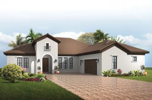 Toriana - Alternate Mizner Elevation - 2,514 - 2,874 sqft, 3 - 4  Bedroom, 2.5 - 3 Bathroom - Cardel Homes Tampa