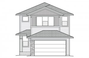 AERO-Fusion-Prairie-A Elevation - 1,948 sqft, 3 Bedroom, 2.5 Bathroom - Cardel Homes Denver