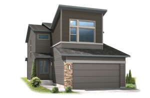 AERO-elev Elevation - 1,948 sqft, 3 Bedroom, 2.5 Bathroom - Cardel Homes Denver