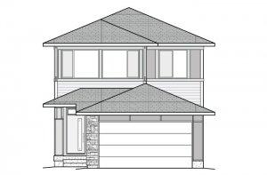 JETT-Fusion-A Elevation - 2,039 sqft, 3 Bedroom, 2.5 Bathroom - Cardel Homes Denver